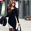 Women's Slim Knitwear Irregular Lap Dress (More Colors)