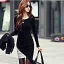 Women's Slim Knitwear Irregular Lap Dress (More Colors)