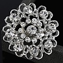 Ladies'/Men's/Kid's/Unisex/Couples'/Women/Women's Alloy Brooch Silver