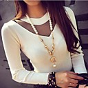 Women's Gauze Spliced Casual Round Collar Pullover Sweater(More Colors)