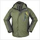 3-en-1 thermique coupe-vent veste de randonnée pour hommes