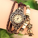 Women's 2015 The Owl Fashion Leather Japanese Quartz Watch (Assorted Colors)