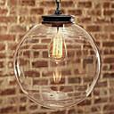 naturaleza inspirado colgante contemporáneo con transparente sombra globo de cristal