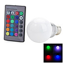 Marsing E26/E27 3 W 1 COB 100-200 LM Color-Changing Remote-Controlled Globe Bulbs AC 100-240 V