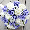 Handmade Wedding Flowers Bridal Bouquets Artificial Beaded Brooch Silk Rose Flower Bride Bridal  Bouquet(More Colors)