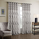 Two Panels Baroque Paisley Grey Bedroom Polyester Panel Curtains Drapes