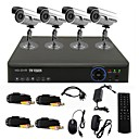 TWVISION® 4CH Channel 960H HDMI CCTV DVR 4x Outdoor 700TVL Security Camera System