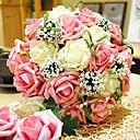 Round Bridal Flower Romantic Wedding Bride's Bouquet Rose Flower Bouquet Of Bride (More Colors)