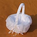 cestino bianco di tulle fiore ragazza cesto