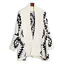 Women's Casual Geometric Cape Sleeve Loose Knitted Cardigan
