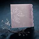 zarif dantel Liliç katlanmış düğün invitaion (50 set)