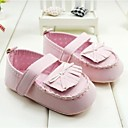Baby Shoes First Walker Flat Heel Cotton Flats with Magic Tape and Bowknot Shoes