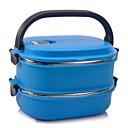 neje deux couches en acier inoxydable boîte isotherme boîte à lunch avec poignée