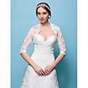 bruiloft wraps bolero kant wit / beige bolero schouderophalen