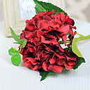 Red Hydrangeas with Bud Artificial Flowers Set 2