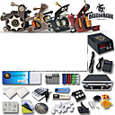 professionele tattoo kits 4 geweren machines en voeding