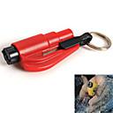 vinduesglas breaker hammer sikkerhedssele cutter med nøglering mini bil redning nødsituation værktøj (tilfældig farve)