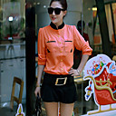 Women's Mandarin Collar Chiffom shirt