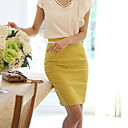Women's Fashion OL Bodycon Work Micro-elastic Medium Knee-length Skirts