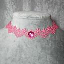 elegante collar de lolita rosa clásico hecho a mano