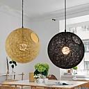 Country Simple Modern Restaurant lamp, Pastoral Rattan Lamp , Hemp Ball Chandelier