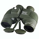 Boshile 10X50 Waterproof Navy Binoculars Telescope with Rangefinder and Compass US Army Green