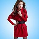 De las mujeres Vestido Sobre la rodilla Tweed - Manga Larga