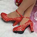 בלרינה\עקבים - נשים - נעלי חתונה - עקבים - חתונה / קז'ואל / מסיבה וערב - אדום