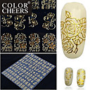 108 vel voor vel gouden 3d bloem nail art stickers decals decoraties hot stamping