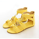 Women's Shoes Flat Heel Comfort Sandals Office & Career/Dress/Casual Yellow/Red/White