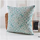 blå blomma mönster bomull / linne dekorativa kuddöverdrag