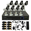 TWVISION® 8CH Channel 960H HDMI CCTV DVR 8x Outdoor 800TVL Security Camera System