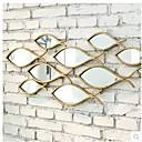 pared de metal decoración de la pared del arte, de la pared de espejo en forma de pez PC e-Home® uno
