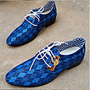 Men's Shoes Casual Denim Oxfords Blue/Brown/Gray
