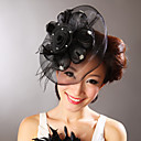 Women's Feather/Net Black Headpiece Wedding/Special Occasion Party Head Flowers/Fascinator