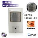 Caméra IP - Box - Jour Nuit/Détection de présence/Dual Stream/Accès à Distance/Coupure infrarouge/Prêt à l'emploi - Indoor