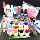 80pcs pure kleur uv gel cleanser primer nail art kit set