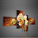 Hand-Painted  Modern Decorative Oil Painting On Canvas Wall Art Flower Picture For Living Room  4pcs/set No Frame