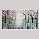 paisaje abstracto pintura al óleo moderna del árbol de flores pintado a mano sobre lienzo de un panel