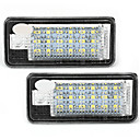 2 wit 18 smd LED kentekenplaat verlichting lampen lampen voor audi a3 a4 8e RS4 a6 q7