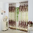 to paneler bourgogne floral botaniske polyester sheer gardiner