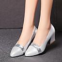 Women's Shoes Chunky Heel Heels / Round Toe Heels Wedding / Dress Black / Silver / Gold