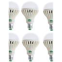 zweihnder® 6pcs e27 9W 850lm 6000-6500k 28x3528 SMD lâmpada de luz branca lâmpada (90-265v)