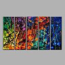 5 piezas de pinturas al óleo hechas a mano la pintura abstracta