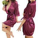 Women's Silky Pink/Black/White/Purple Half Sleeve Robes