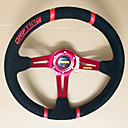 Universal 350mm 14 Inch Car Auto Momo Modified Matte Material Automobile Race Steering Wheel with Horn Button