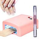 Ultravioleta 36w tubo de máquina de la terapia de luz de la lámpara de uñas 4light + Aceite revitalizador 1cuticle