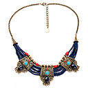 European Retro Fashion Multistorey Necklace Alloy Statement Necklaces 1pc