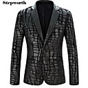 Men's Long Sleeve Regular Blazer , Cotton / Polyester Pure