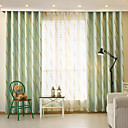 Two Panels Modern Curve Living Room Polyester Blackout Curtains Drapes